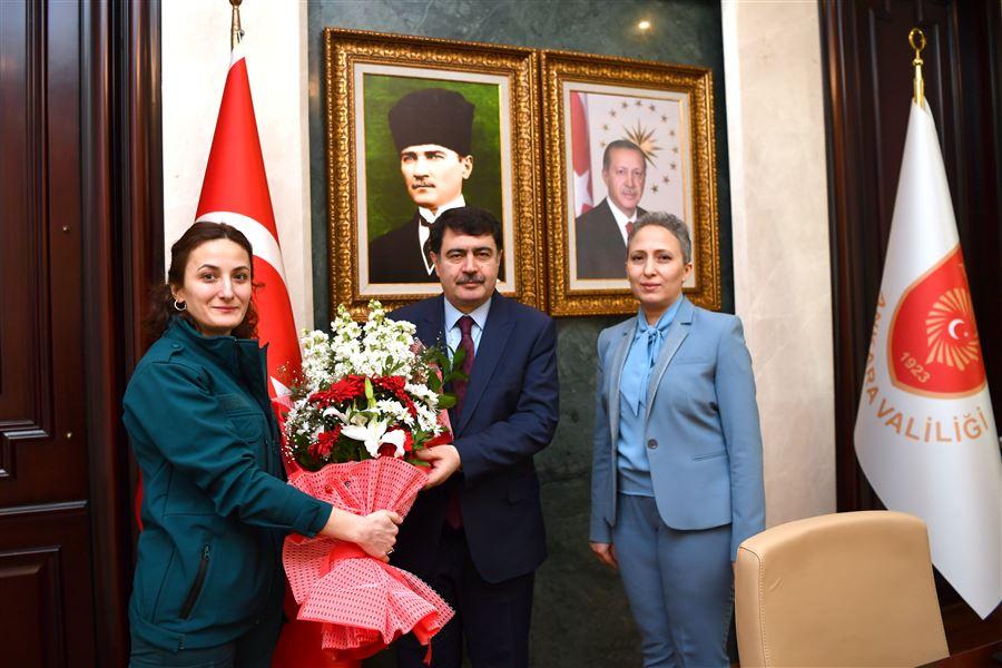 Sayın Valimiz Vasip ŞAHİN'İ Makamında Ziyaret Ettik.