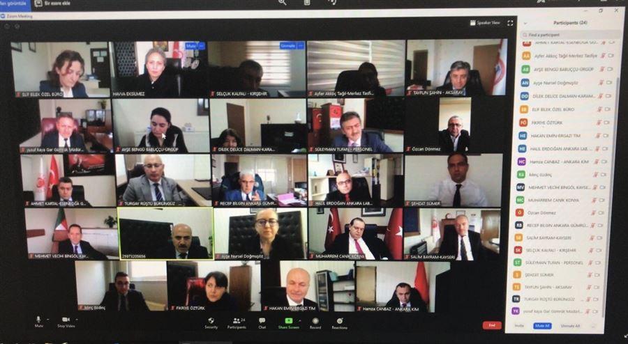 Bölge Müdürümüz Havva EKSİLMEZ Başkanlığında Video Konferans Yöntemiyle İstişare Toplantısı Yapıldı