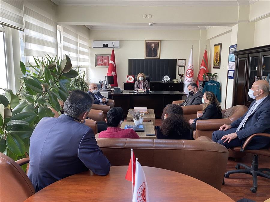 Bakanlığımız Personel Genel Müdürü Yahya BABA ve Genel Müdür Yardımcısı İbrahim Ethem ÇAKIR Ziyareti